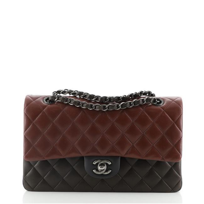 Item - Classic Flap Tricolor Classic Double Quilted Lambskin Medium Multicolor Leather Shoulder Bag