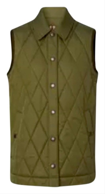 Item - Olive Green Diamond Quilted Thermoregulated Gilet / Vest Size 4 (S)