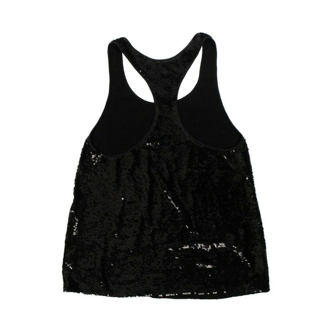 Item - Black Sequin Embellished Shirt Tank Top/Cami Size 2 (XS)