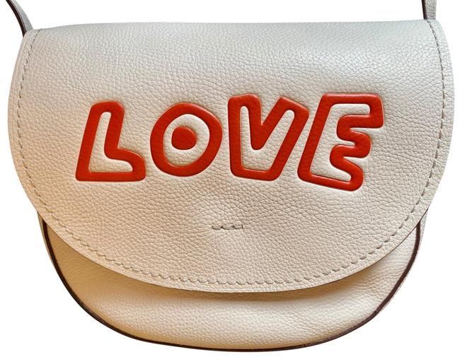 Item - Hudson Keith Haring Love Ivory Leather Cross Body Bag