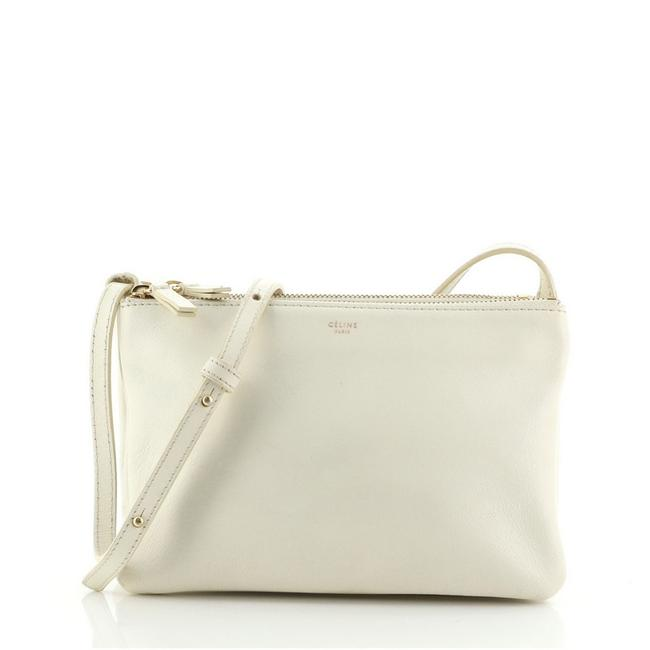 Item - Trio Small Neutral Leather Cross Body Bag