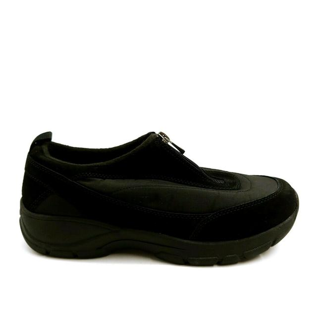 Item - Black Womens 489294 All Weather Zip Sneakershoes Suede Low Top Bl Sneakers Size US 8 Wide (C, D)
