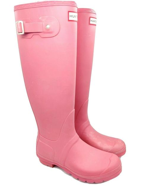 Item - Pink Tall Rain Boots/Booties Size US 8 Regular (M, B)