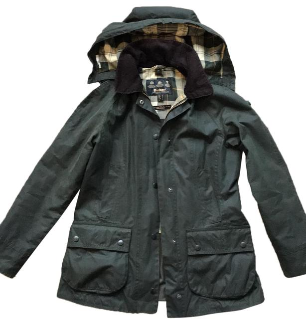 Item - Sage Beadnell Wax Jacket with Removable Hood Coat Size 4 (S)