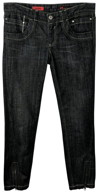 Item - Black Medium Wash With Zipper At Ankle Skinny Jeans Size 28 (4, S)