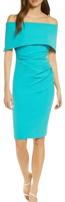 Item - Turquoise Sz-14 Popover Mid-length Night Out Dress Size 14 (L)
