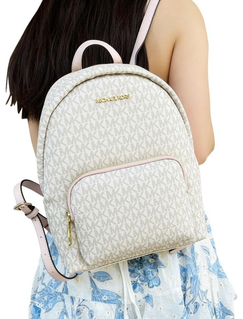 Item - Erin Abbey Medium Mk Signature Vanilla Pink Backpack