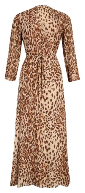 Item - Brown Alessandra Cat Mid-length Casual Maxi Dress Size 4 (S)