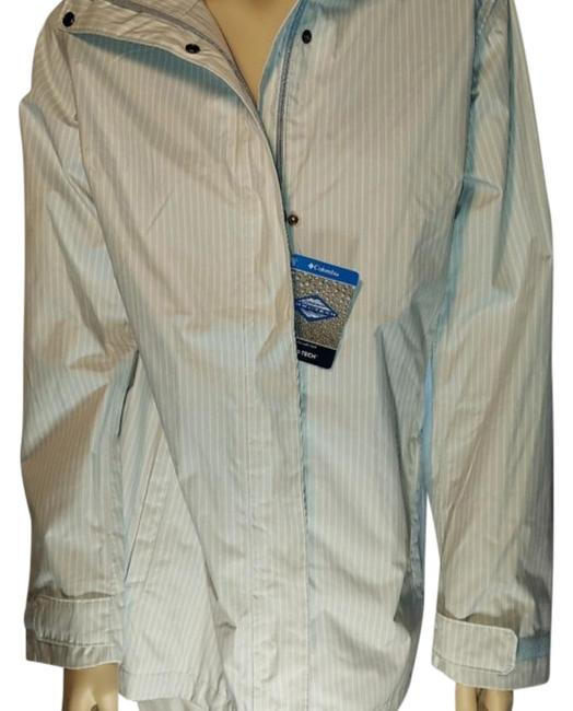 Item - Blue White Rain/All Weather Coat Jacket Size 12 (L)