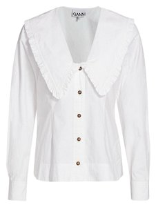Ganni Button Down Shirt white