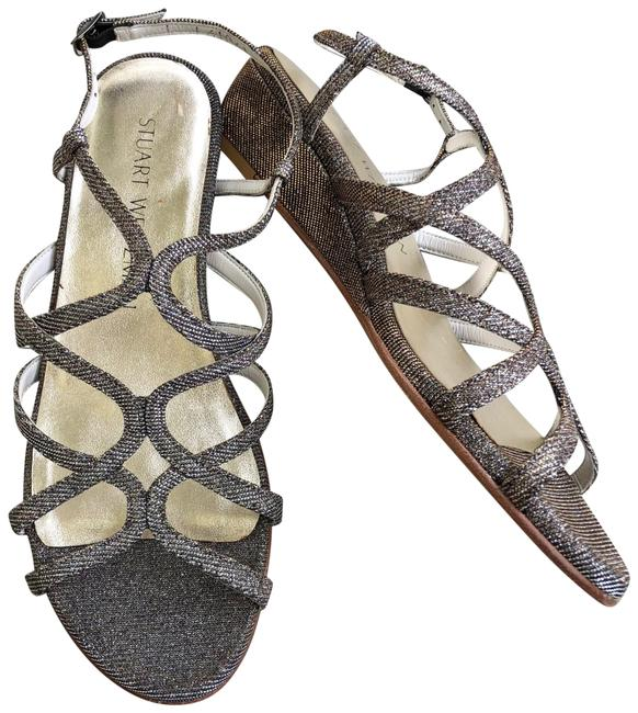 Item - Silver Strappy Wedges Sandals Size US 5 Regular (M, B)