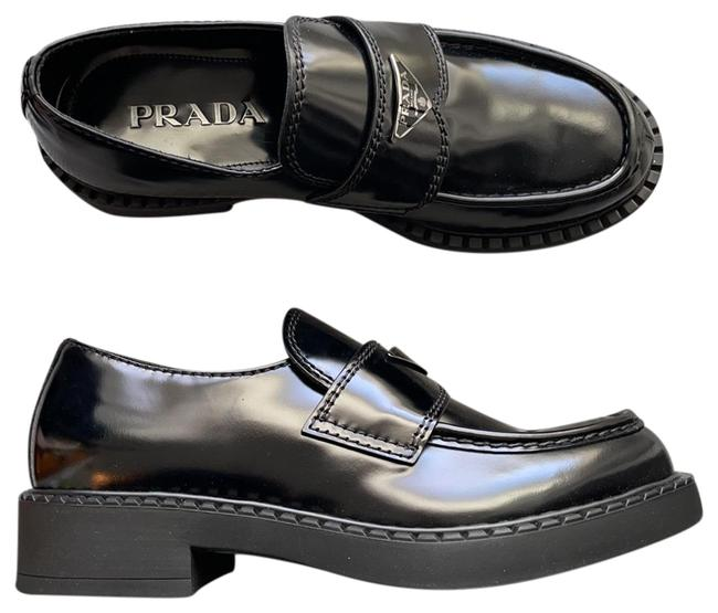 Item - Black Brushed Leather Loafers Flats Size US 8.5 Regular (M, B)