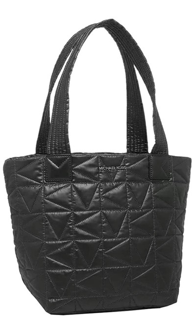 Item - Winnie Quilted Small Black Nylon Tote