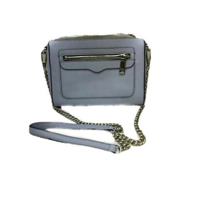 Item - Avery Saffiano Baby Blue Leather Cross Body Bag