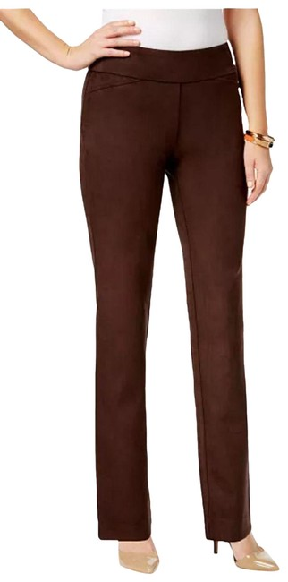 Item - Brown Cambridge Faux-suede Created For Macy's Pants Size Petite 6 (S)