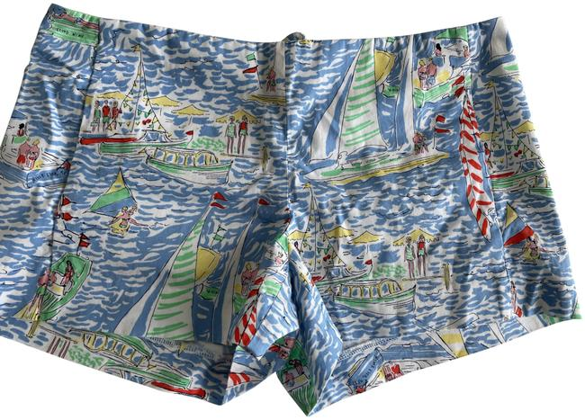 Lilly Pulitzer Multi Color Boat Print Shorts Size 6 (S, 28) Lilly Pulitzer Multi Color Boat Print Shorts Size 6 (S, 28) Image 1