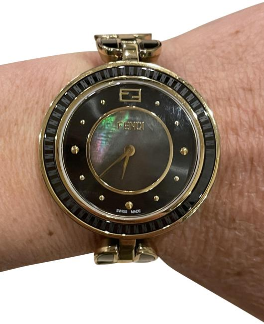 Item - Black and Yellow Gold My Way Mother Of Pearl Face Watch