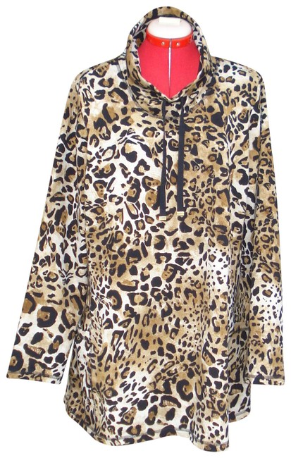 Item - Leopard Weekend Cotton Blend Tunic Size 22 (Plus 2x)