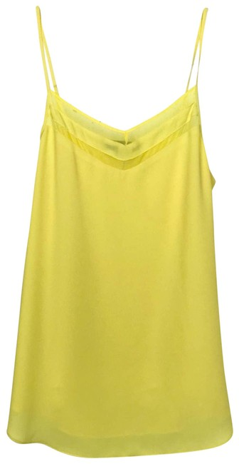 Item - Yellow XS Adjustable Lined Illusion Panel Tank Top/Cami Size 0 (XS)