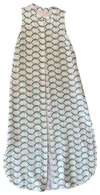 Item - White Green Blue Dress Cover-up/Sarong Size 8 (M)