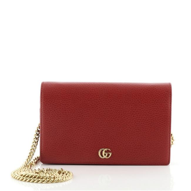Item - Chain Wallet Marmont Petite Mini Red Leather Cross Body Bag