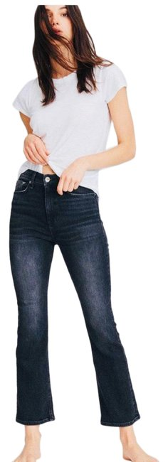 Item - Distressed Nina High Rise Ankle In Gravity Flare Leg Jeans Size 6 (S, 28)