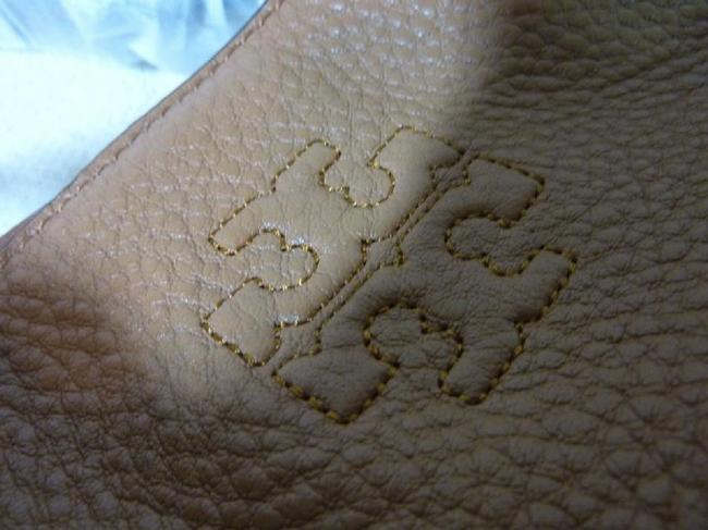 Tory Burch Thea Center Zip Bark Brown Leather Tote Tory Burch Thea Center Zip Bark Brown Leather Tote Image 11