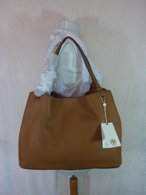 Tory Burch Thea Center Zip Bark Brown Leather Tote Tory Burch Thea Center Zip Bark Brown Leather Tote Image 10