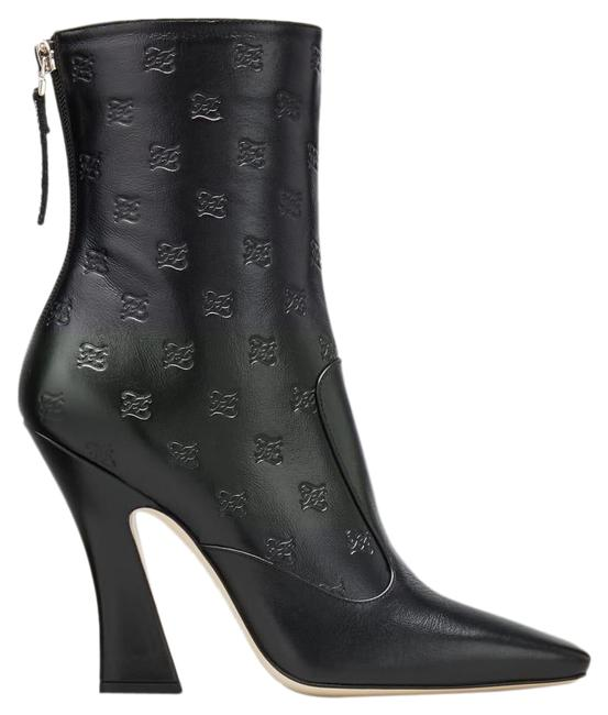 Item - Black Logo-embossed Leather Ankle Boots/Booties Size EU 39 (Approx. US 9) Regular (M, B)