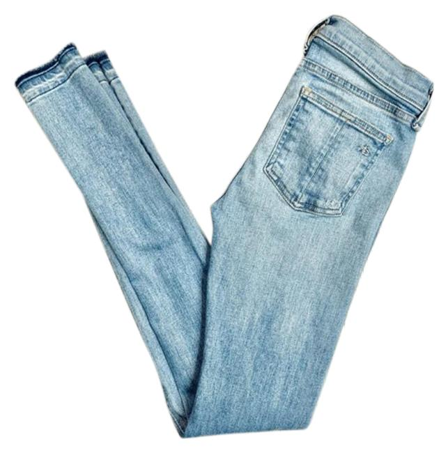 Item - Blue Light Wash Distressed Bromley Skinny Jeans Size 25 (2, XS)