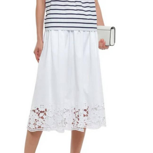 Item - White Madison Ave Lace-trimmed Skirt Size 6 (S, 28)
