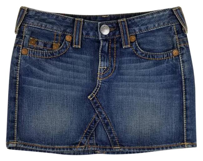 Item - Blue Bobby Big T Jean 27 Skirt Size 4 (S, 27)