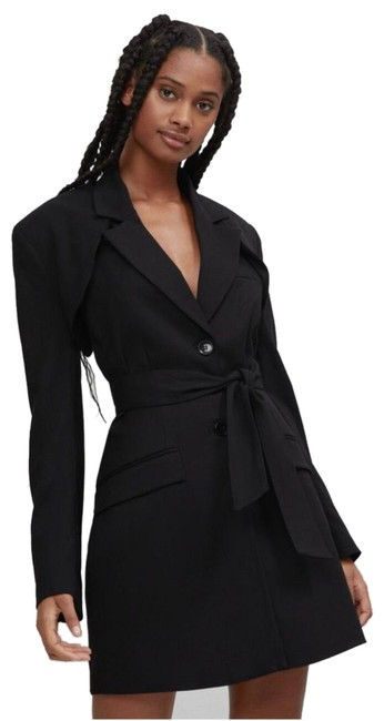Item - Black With Belt and Jacket Short Night Out Dress Size 0 (XS)