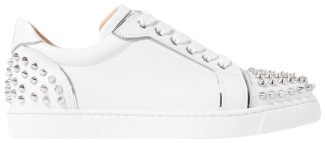 Item - White Vieirissima Spikes Embellished Leather Sneakers Size EU 34 (Approx. US 4) Regular (M, B)