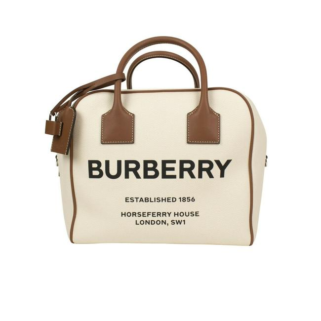 Item - Horseferry Print Canvas Cube Beige Cotton Tote