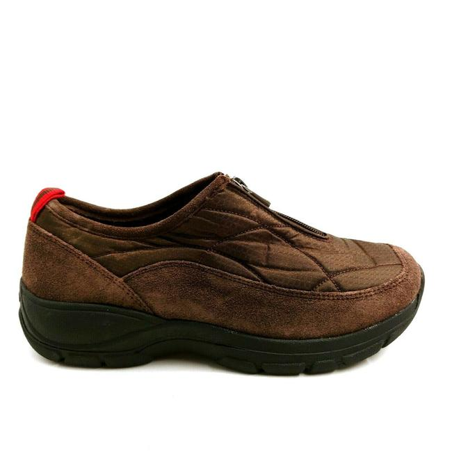 Item - Brown Womens 473568 All Weather Zip Suede Low Top B Sneakers Size US 8.5 Wide (C, D)