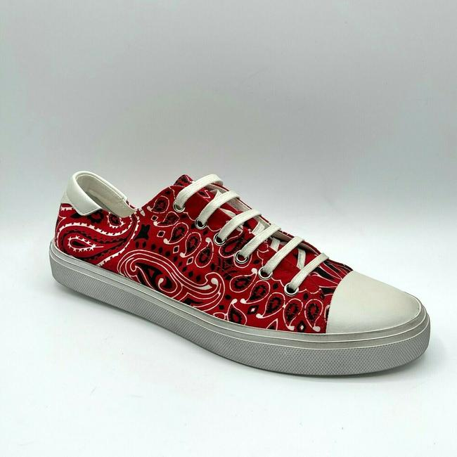 Item - Red/White Men Red/White Dirty Washed Canvas Sneaker 41/Us 8 558306 6576 Shoes