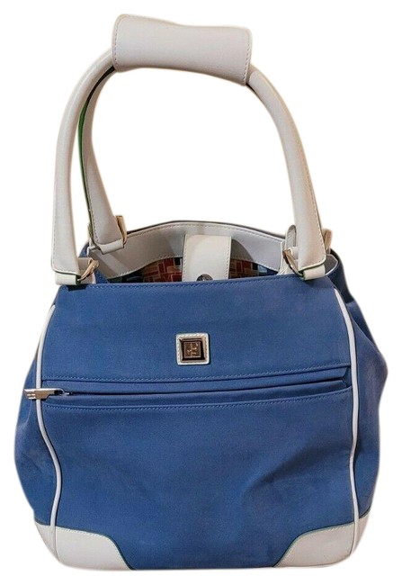 Item - Women's Dvf Large Duff Blue Suede Leather Weekend/Travel Bag