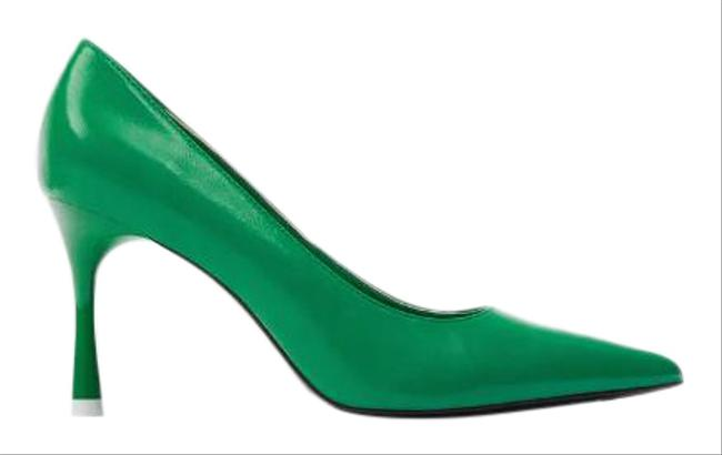 Item - Green New Stiletto Pointy Ref 3207/510 Pumps Size US 6 Regular (M, B)