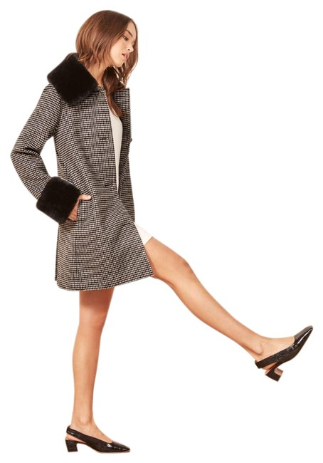Item - Black/White Lucille Wool Coat Size 2 (XS)
