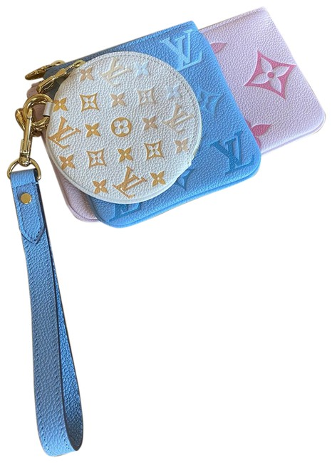 Item - By The Pool Trio Pouch Blue Pink Yellow Wristlet