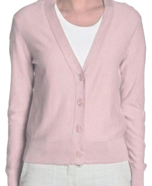 Item - Pink Front Button Neck Long Sleeve Cardigan Size 8 (M)