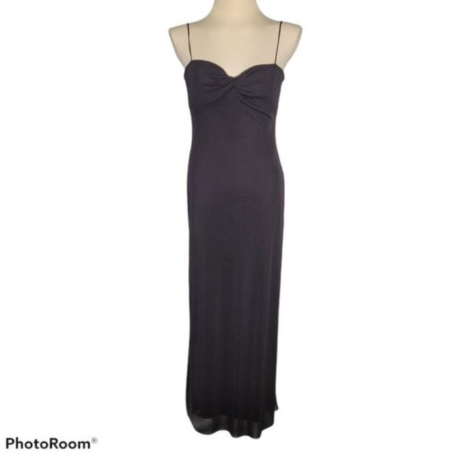Item - Black Twisted Bust Slip Long Casual Maxi Dress Size 4 (S)