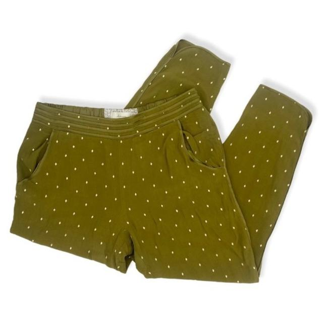 Anthropologie Green Gold Anthro Elevens Olive Diamond Embroidered Pants Size 10 (M, 31) Anthropologie Green Gold Anthro Elevens Olive Diamond Embroidered Pants Size 10 (M, 31) Image 1