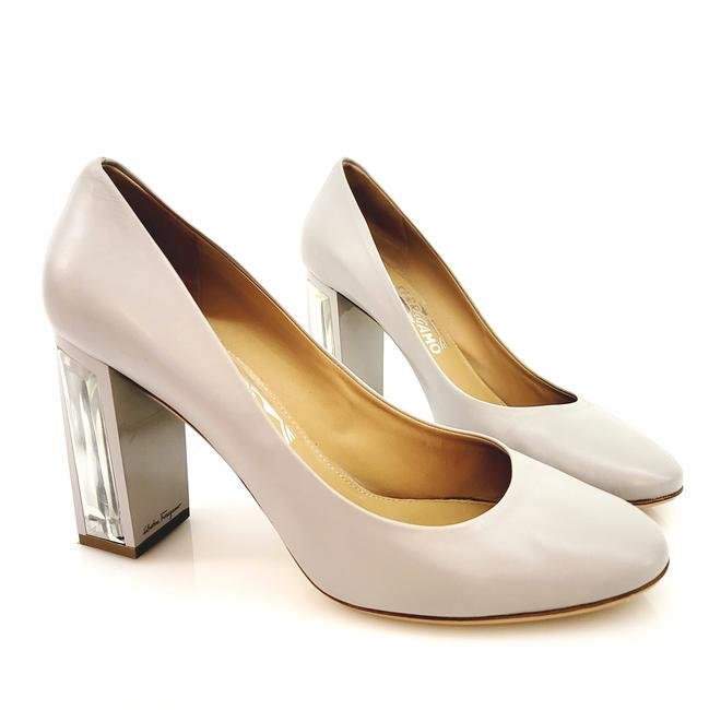Item - Light Taupe With See Through Heel Pumps Size US 10 Wide (C, D)