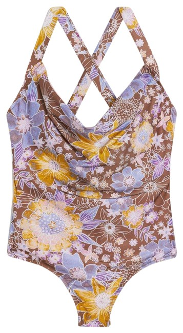 Item - Brown New Alana Gunn Willandra Floral Swimsuit One-piece Bathing Suit Size 6 (S)