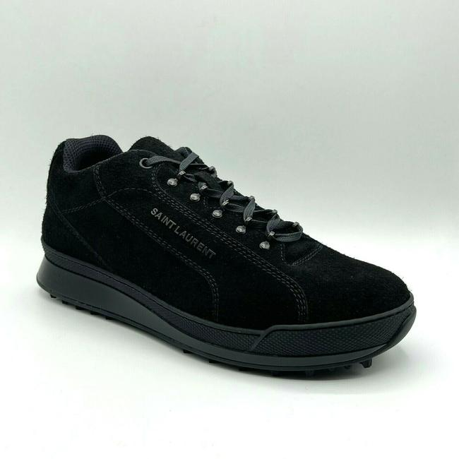 Item - Black Men's Suede Jump Sneaker with Logo 44/Us 11 501612 Shoes