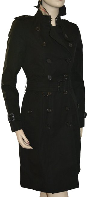 Item - Black Chelsea Double Breasted Coat Size 4 (S)
