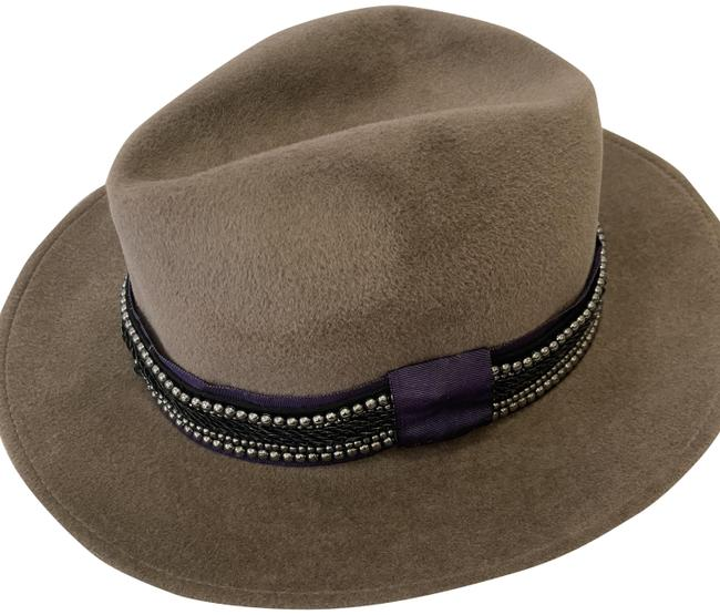 Item - Dark Taupe Beaded Panama Hat