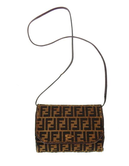 Item - Vintage Brown Zucca Monogram Canvas Leather Cross Body Bag